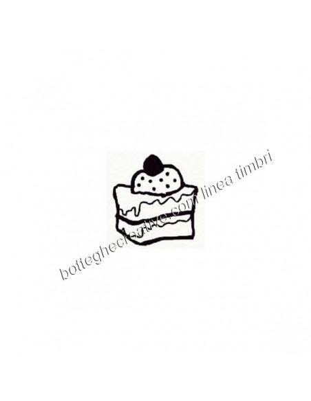 timbro a tampone linea sweet dolci fetta di torta