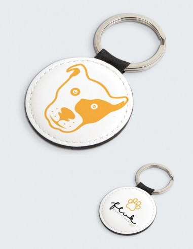 Portachiavi Fluk, colore bianco, design esclusivo per tutti gli amanti di cani e gatti