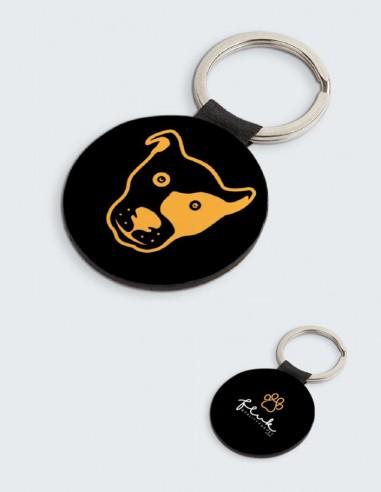 Portachiavi Fluk, colore nero, design esclusivo per tutti gli amanti di cani e gatti