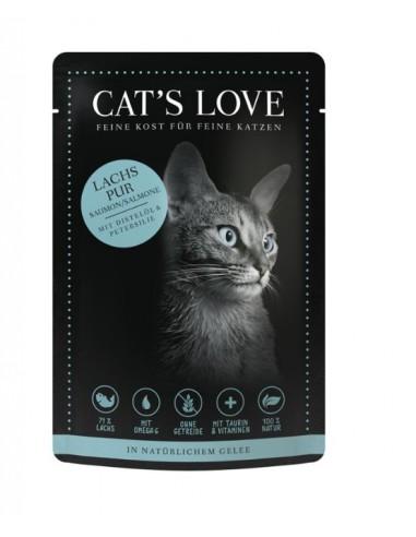 Cibo umido per gatti Cat's love al salmone, bustina monodose