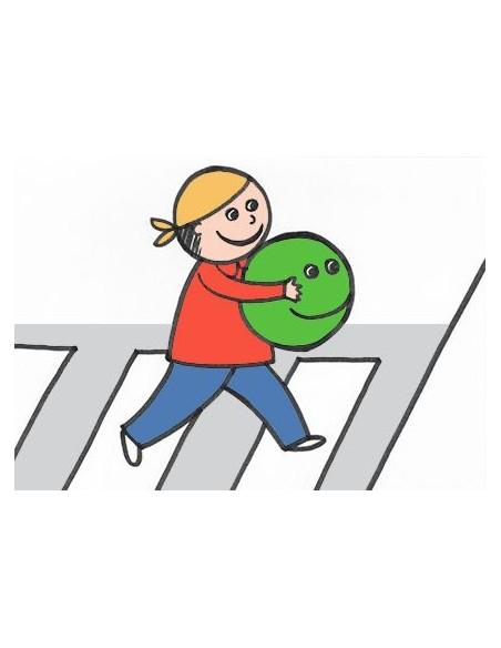 Verde sulle strisce libro di educazione stradale illustrato da Raffaella Di Vaio