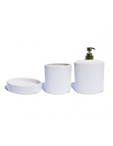 Ceramic bathroom accessories set 'oval'