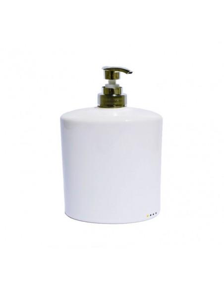 Set complementi bagno ovali in ceramica porta spazzolino porta sapone dispenser sapone liquido