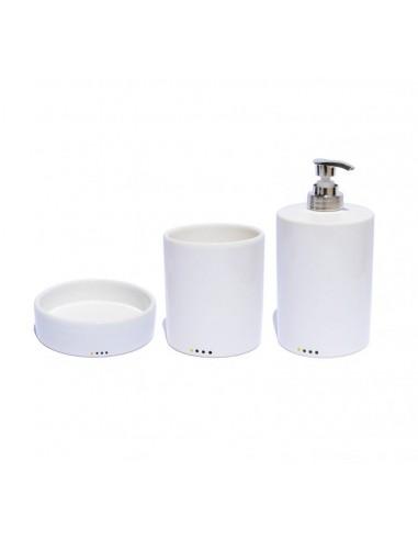 Set complementi bagno circolari in ceramica porta sapone dispenser sapone liquido porta spazzolini