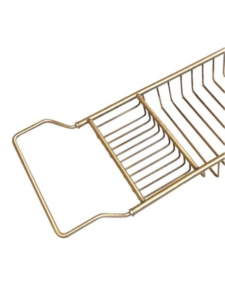 Griglia allungabile porta sapone e spugna per vasca in ottone cromato