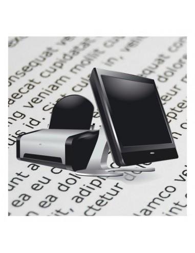 Stampa laser bianco e nero, in formato A4, su carta bianca da file pdf
