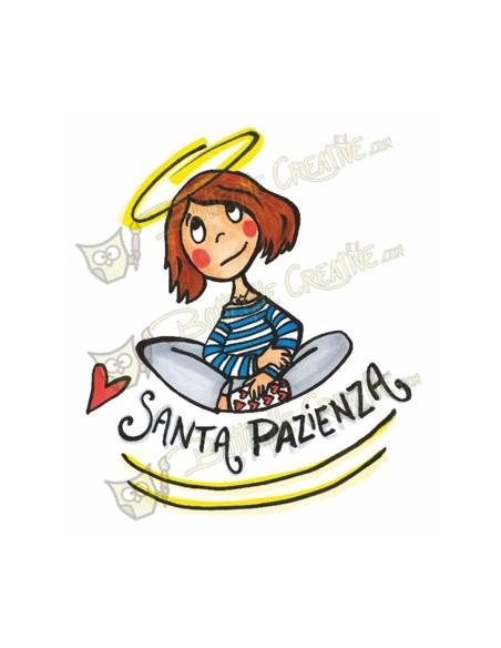 Tshirt d'arte Santa Pazienza dell'artista italiana Vania Bellosi