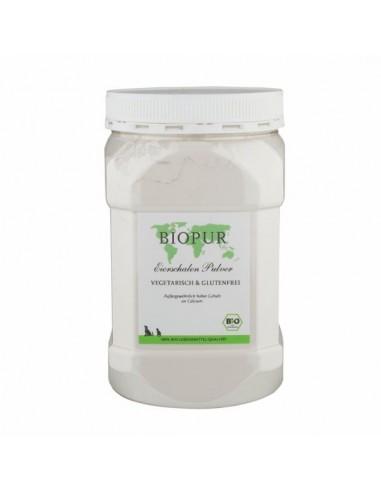 Guscio d'uovo biologico in polvere BioPur integratore alimentare per cani e gatti