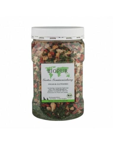 Mix di verdure biologiche dell'orto in fiocchi per cani e gatti, con pastinaca, sedano, spinaci, carote.