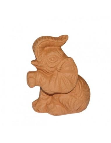 Elefantino in ceramica terracotta di...