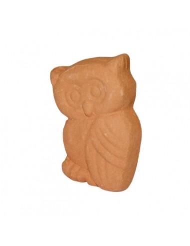 Gufo piccolo in ceramica terracotta