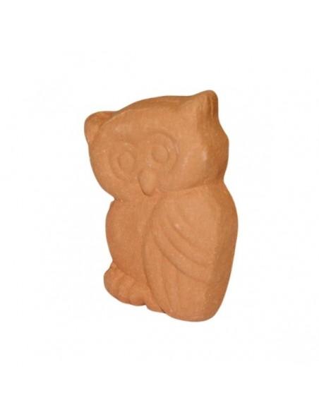 Gufo piccolo in ceramica di Faenza terracotta da decorare