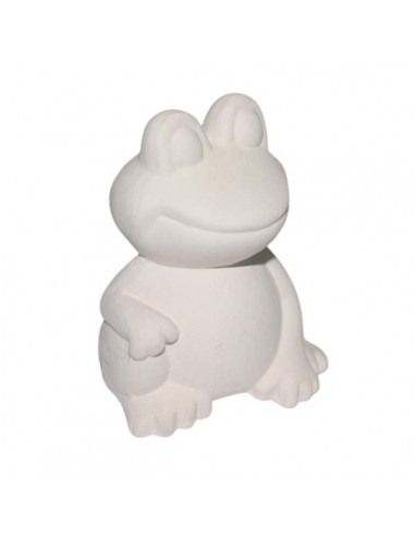 Rana bianca in ceramica di Faenza