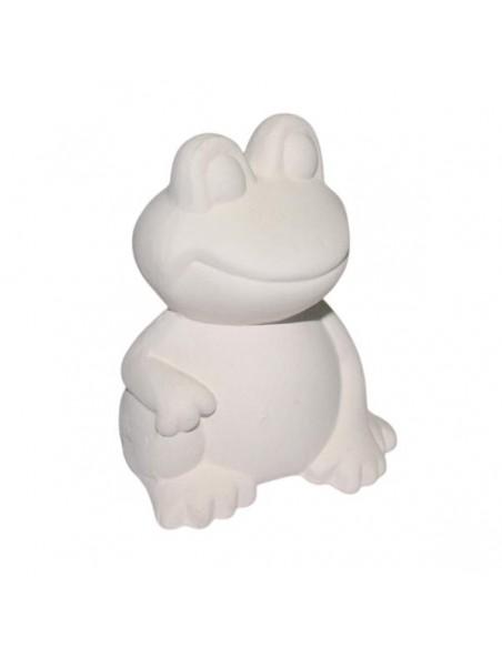 Rana bianca in ceramica di Faenza da decorare