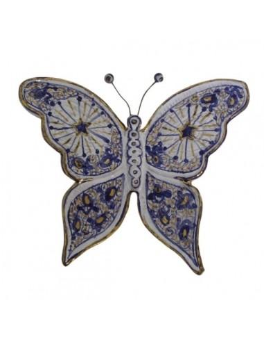 Farfalla in ceramica di faenza melograno