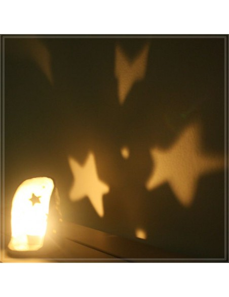 Portacandela e tea light atmosfera con stelle in ceramica