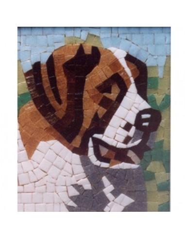 mosaico di Ravenna fai da te san bernardo cane
