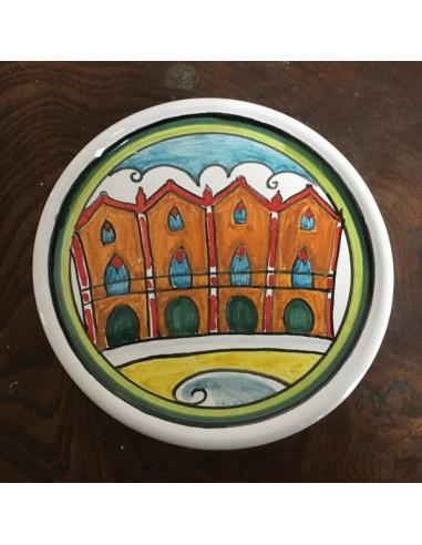 sottobicchiere fermacarte in ceramica di faenza