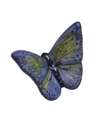 Farfalla in ceramica azzurra