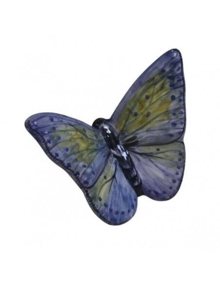 Farfalla in ceramica di faenza decorata a mano made in italy