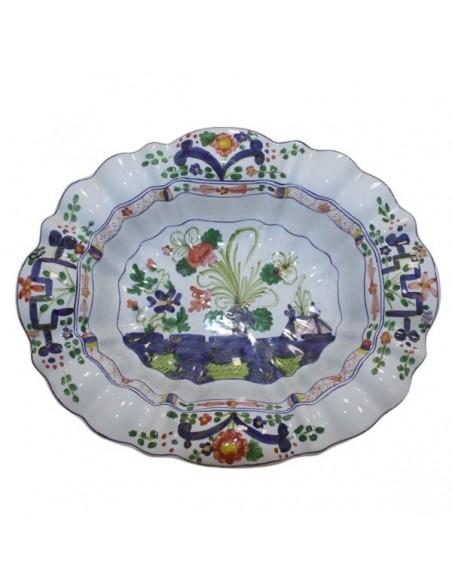 centrotavola con alzata in ceramica di faenza