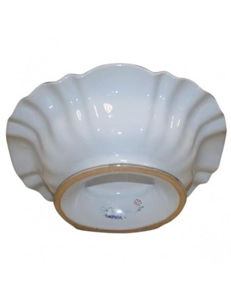 centrotavola con alzata in ceramica  decorazione garofano